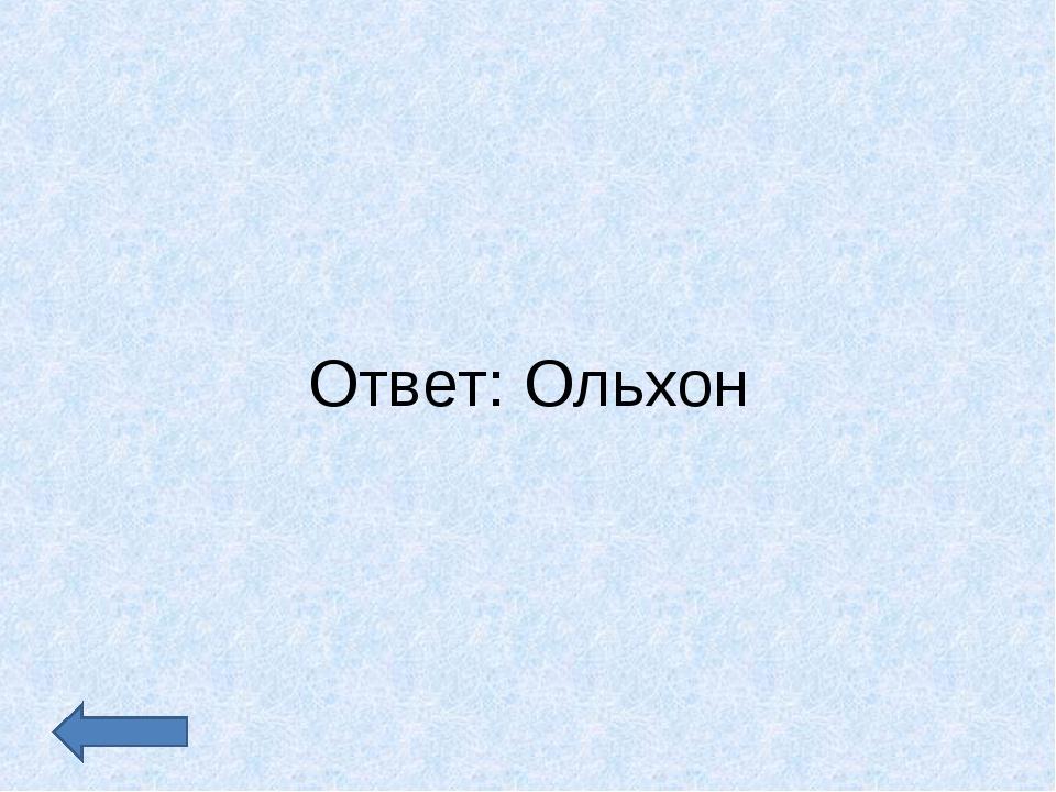 Ответ: Ольхон