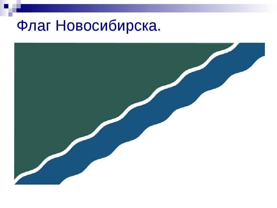 Флаг Новосибирска.