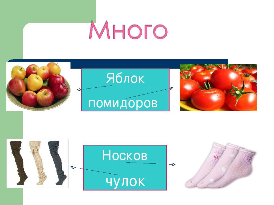 Яблок помидоров Носков чулок