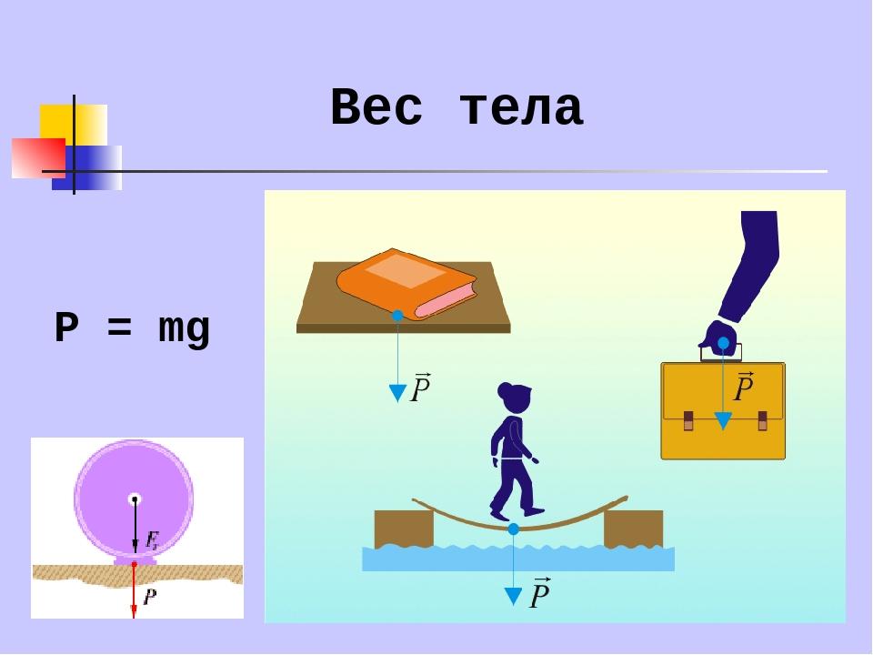 Вес тела физика в картинках