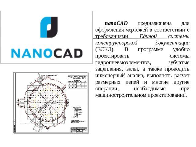 nanoCAD предназначена для оформления чертежей в соответствии с требованиями Е...