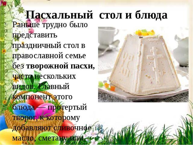 Пасхальный стол и блюда Раньше трудно было представить праздничный стол в пра...