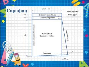 Сарафан 3 3 Ди Ог : 4 + Пг Цельнокроеная обтачка Кулиска для резинки Линия пе