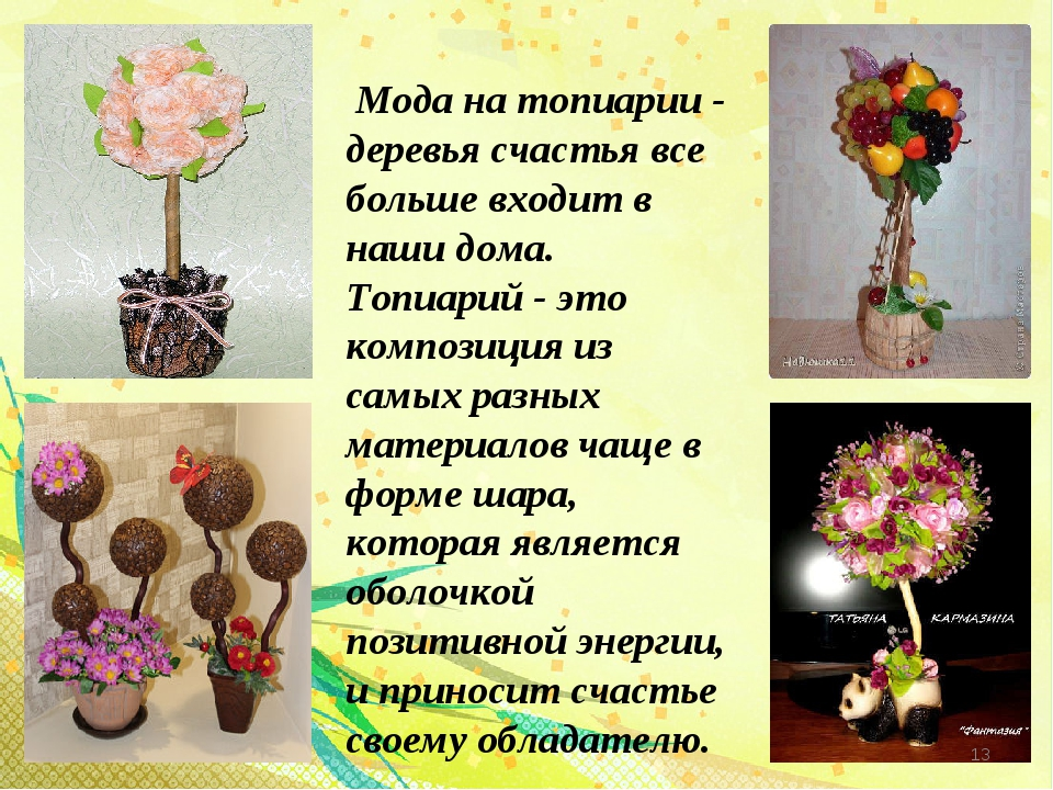 Мода на топиарии - деревья счастья все больше входит в наши дома. Топиарий -...
