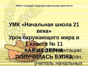 УМК «Начальная школа 21 века» Урок окружающего мира в 1 классе № 11 КАК ИЗ ЗЕ
