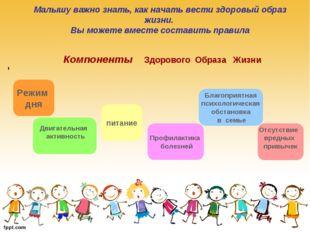 Малышу важно знать, как начать вести здоровый образ жизни. Вы можете вместе с