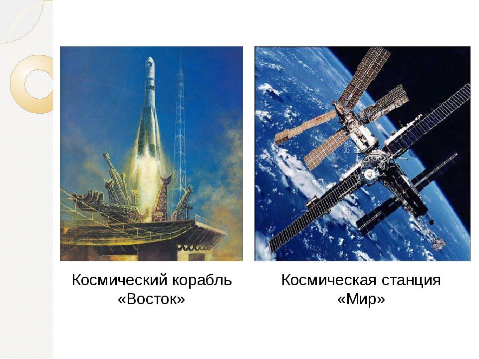 Космический корабль «Восток» Космическая станция «Мир»
