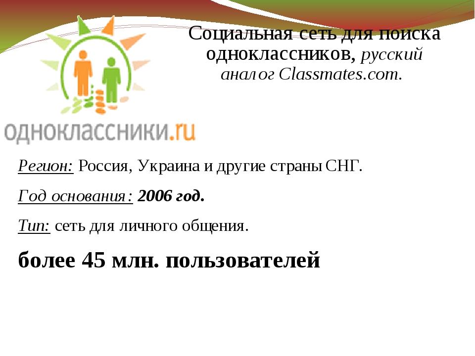 Регион: Россия, Украина и другие страны СНГ. Год основания: 2006 год. Тип: се...