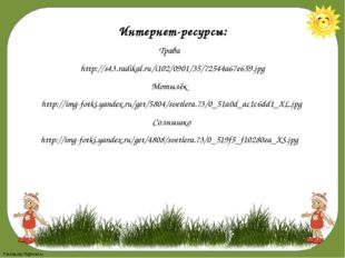 Интернет-ресурсы: Трава http://s43.radikal.ru/i102/0901/35/72544a67e659.jpg М