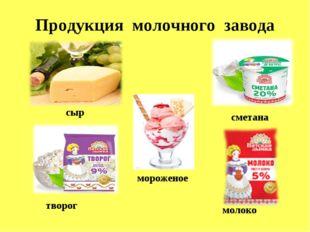 Продукция молочного завода сыр творог сметана молоко мороженое