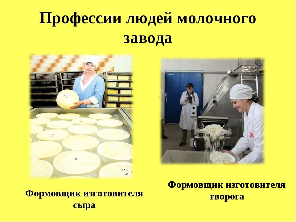 Профессии людей молочного завода Формовщик изготовителя творога Формовщик из...
