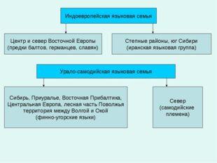 Индоевропейская языковая семья Центр и север Восточной Европы (предки балтов,