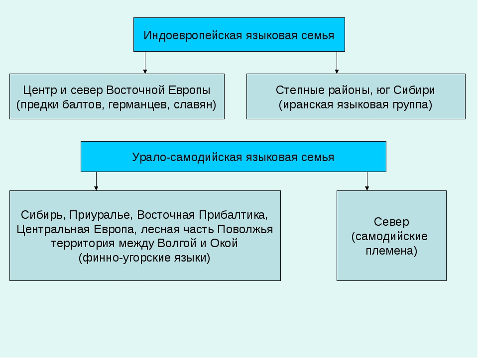 Индоевропейская языковая семья Центр и север Восточной Европы (предки балтов,...
