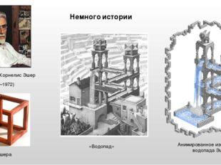Немного истории Мауриц Корнелис Эшер (1898–1972) «Водопад» куб Эшера Анимиров