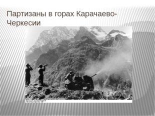 Партизаны в горах Карачаево-Черкесии