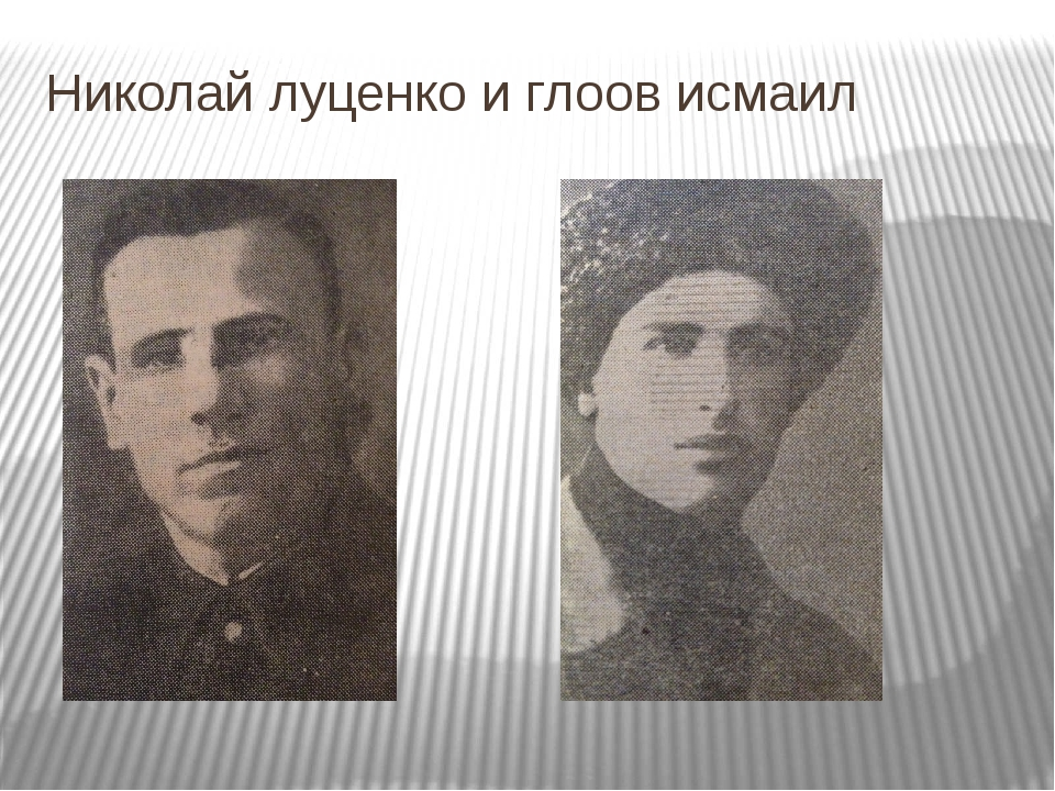 Николай луценко и глоов исмаил
