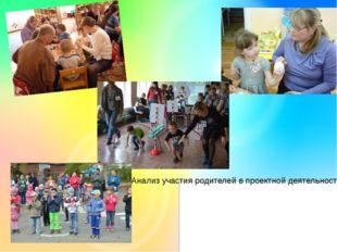 Анализ участия родителей в проектной деятельности