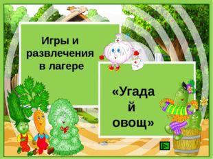 «Угадай овощ» Игры и развлечения в лагере