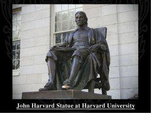 John Harvard Statue at Harvard University