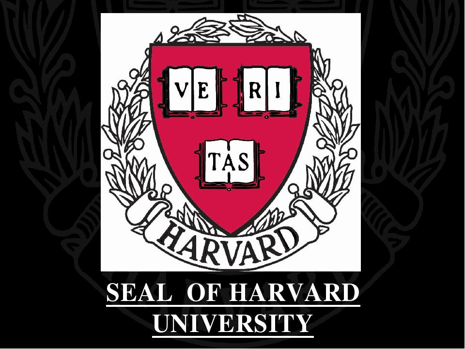 SEAL OF HARVARD UNIVERSITY