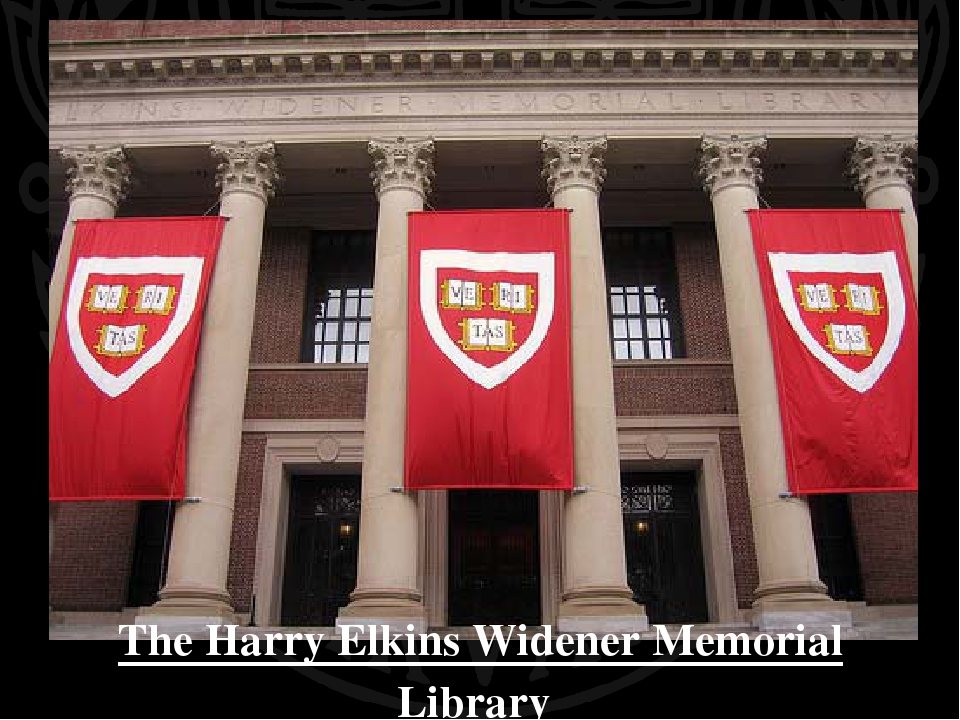 The Harry Elkins Widener Memorial Library