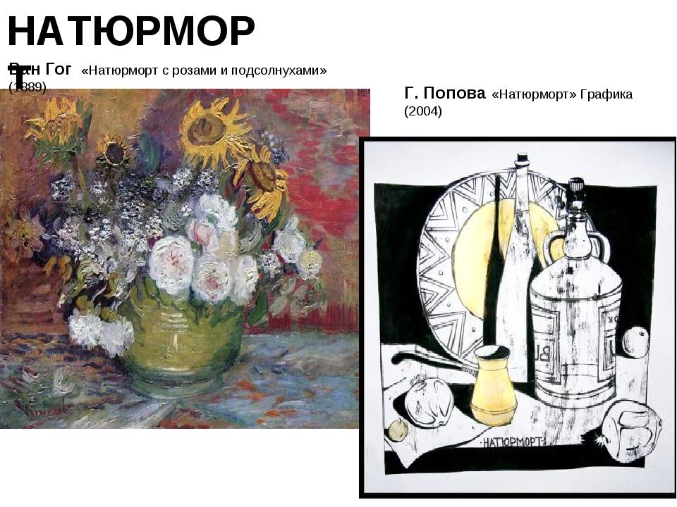 НАТЮРМОРТ Ван Гог «Натюрморт с розами и подсолнухами» (1889)  Г. Попова «Нат...