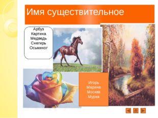 Имя существительное Арбуз Картина Медведь Снегирь Осьминог Игорь Марина Москв