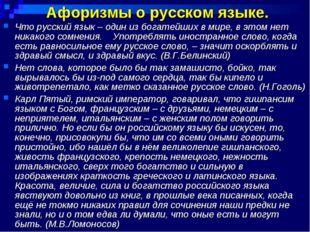 Афоризмы о русском языке. Что русский язык – один из богатейших в мире, в это