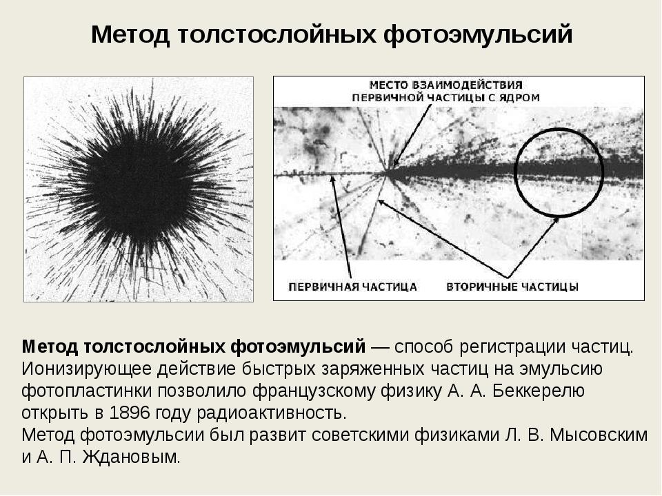 сужение метод фотоэмульсии основан на узнать уморительно