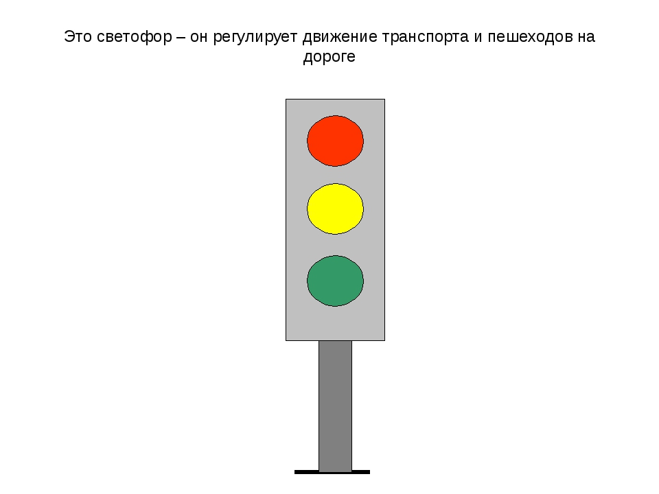 Это светофор – он регулирует движение транспорта и пешеходов на дороге