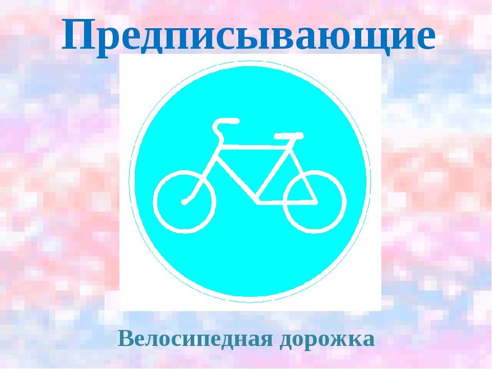 Предписывающие Велосипедная дорожка