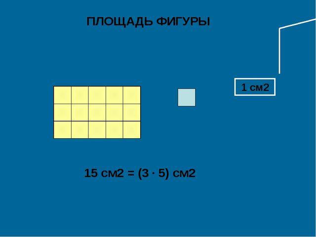 1 см2 ПЛОЩАДЬ ФИГУРЫ 15 см2 = (3 · 5) см2