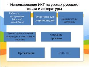 Создание проектов Использование ИКТ на уроках русского языка и литературы Ра