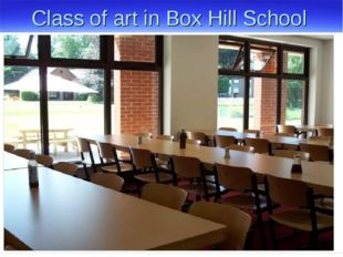 Class of art in Box Hill School
