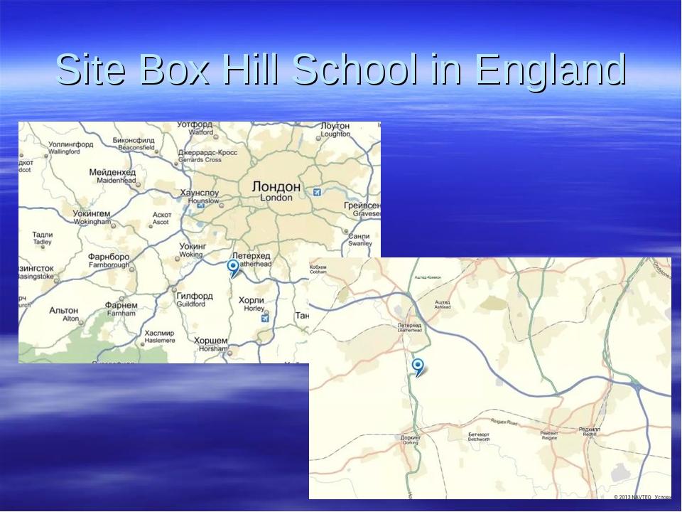 Site Box Hill School in England