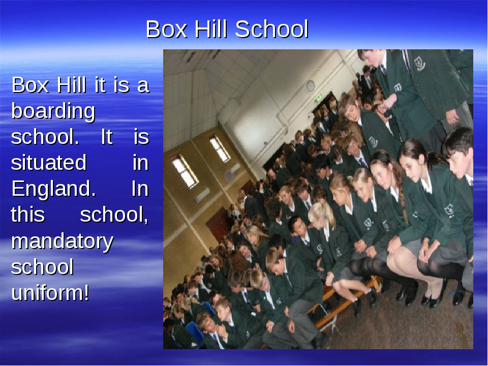 Box Hill it is a boarding school. It is situated in England. In this school,...