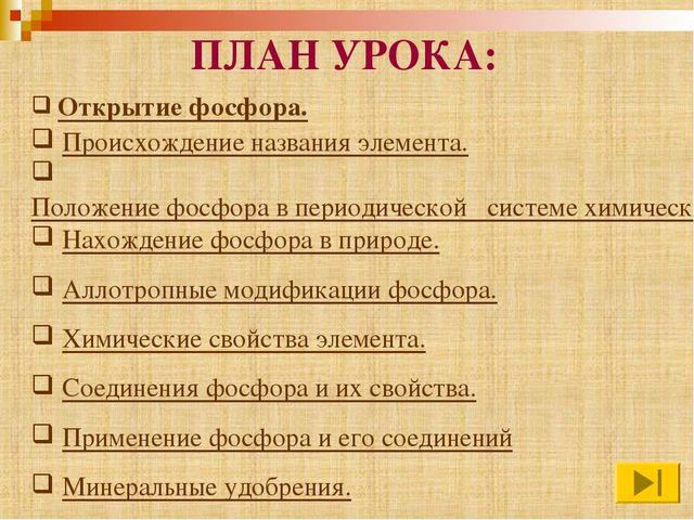 Открытие фосфора. Происхождение названия элемента. Положение фосфора в перио...