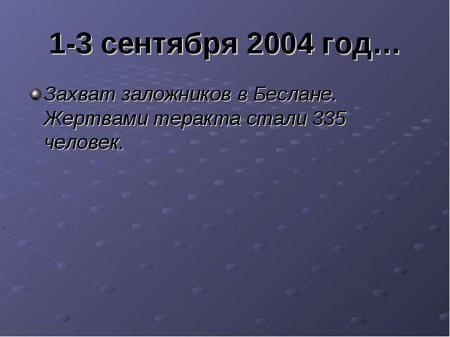 1-3 сентября 2004 год… Захват заложников в Беслане. Жертвами теракта стали 33...