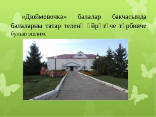 «Дюймовочка» балалар бакчасында балаларны татар теленә өйрәтүче тәрбияче бул