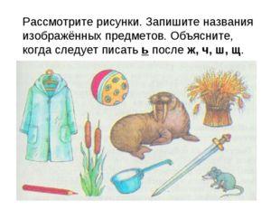 Рассмотрите рисунки. Запишите названия изображённых предметов. Объясните, ко