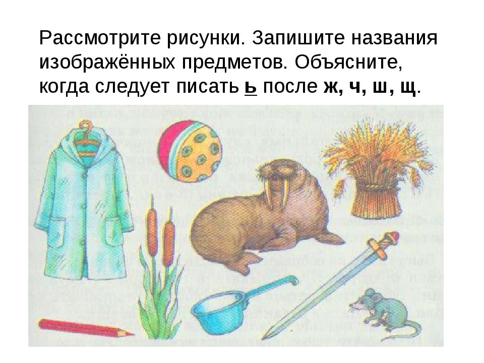 Рассмотрите рисунки. Запишите названия изображённых предметов. Объясните, ко...