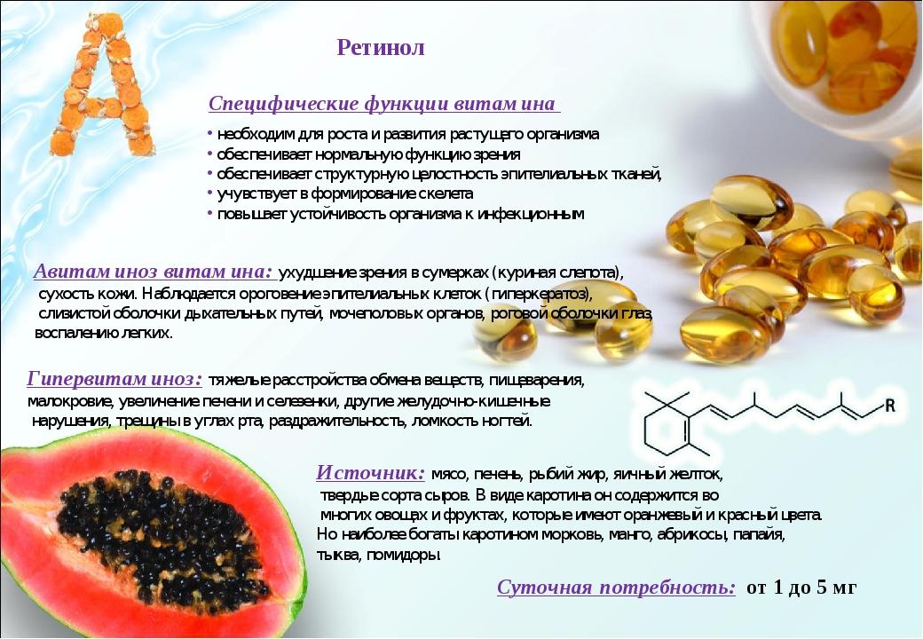 Специфические функции витамина необходим для роста и развития растущего орган...