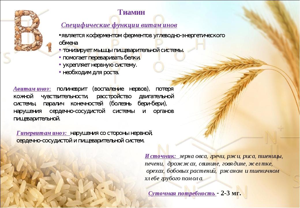 Специфические функции витаминов является коферментом ферментов углеводно-энер...