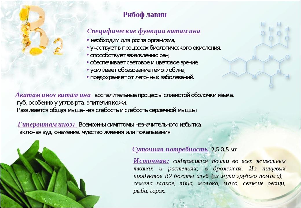 Специфические функции витамина необходим для роста организма, участвует в про...