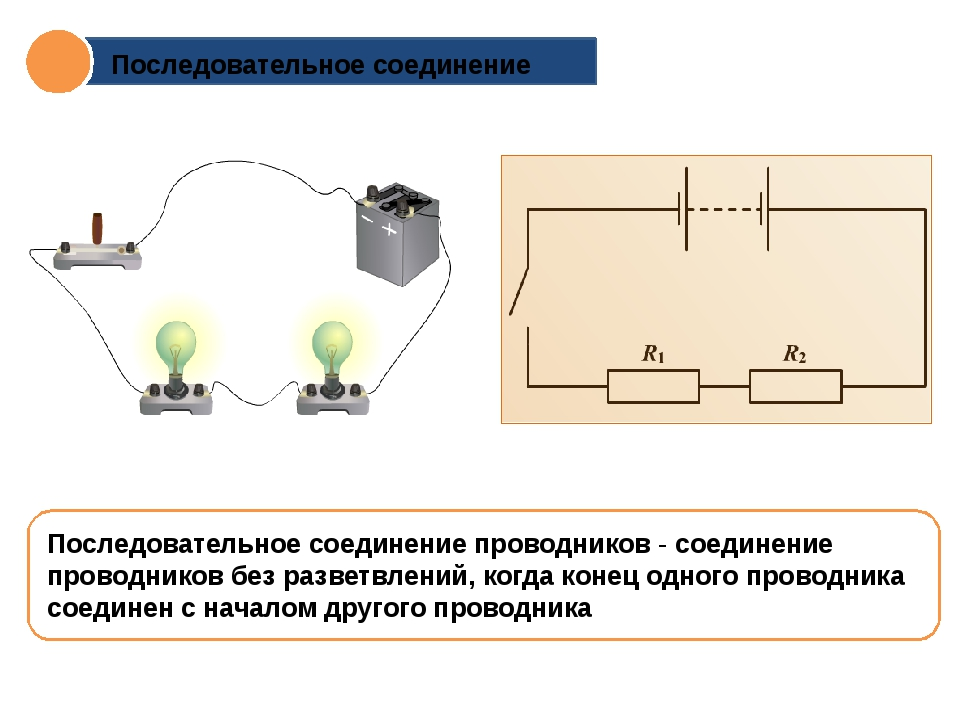 Последовательное соединение Последовательное соединение проводников - соедине...