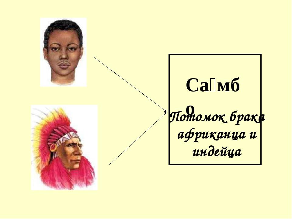 Са́мбо Потомок брака африканца и индейца