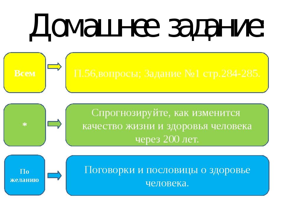 Домашнее задание: П.56,вопросы; Задание №1 стр.284-285. Поговорки и пословицы...