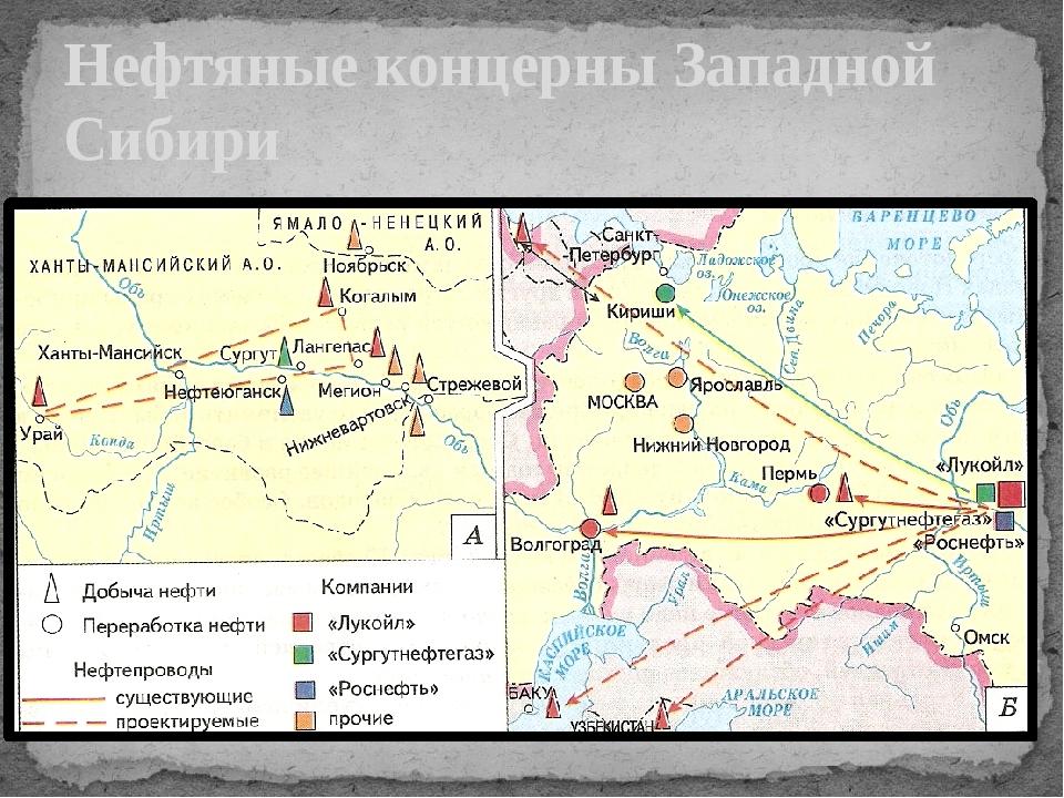 Нефтяные концерны Западной Сибири