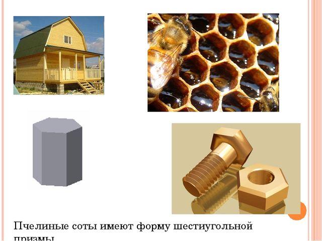 Пчелиные соты имеют форму шестиугольной призмы.