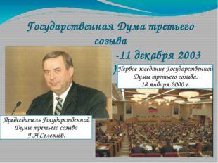 Государственная Дума третьего созыва (18 января 2000 г. -11 декабря 2003 г.)